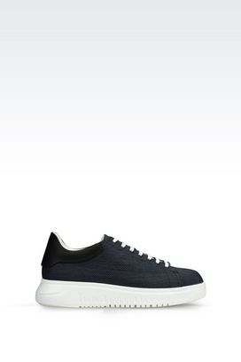 Armani Baskets Homme sneaker en raphia technique