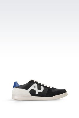 Armani Sneakers Men sneaker in suede and mesh with logo