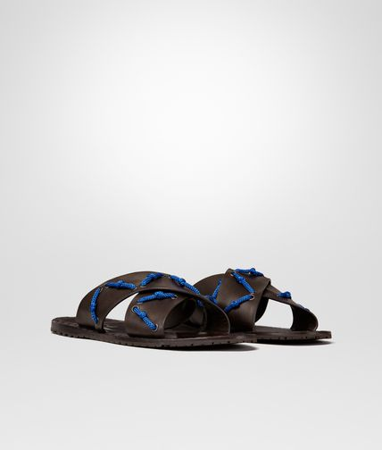 SANDALS IN ESPRESSO CALF