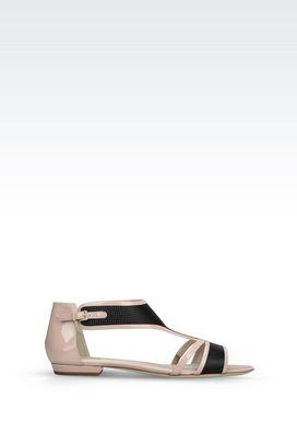Armani Flat sandals Women patent sandal