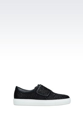 Armani Sneakers Men runway slip-on in calfskin