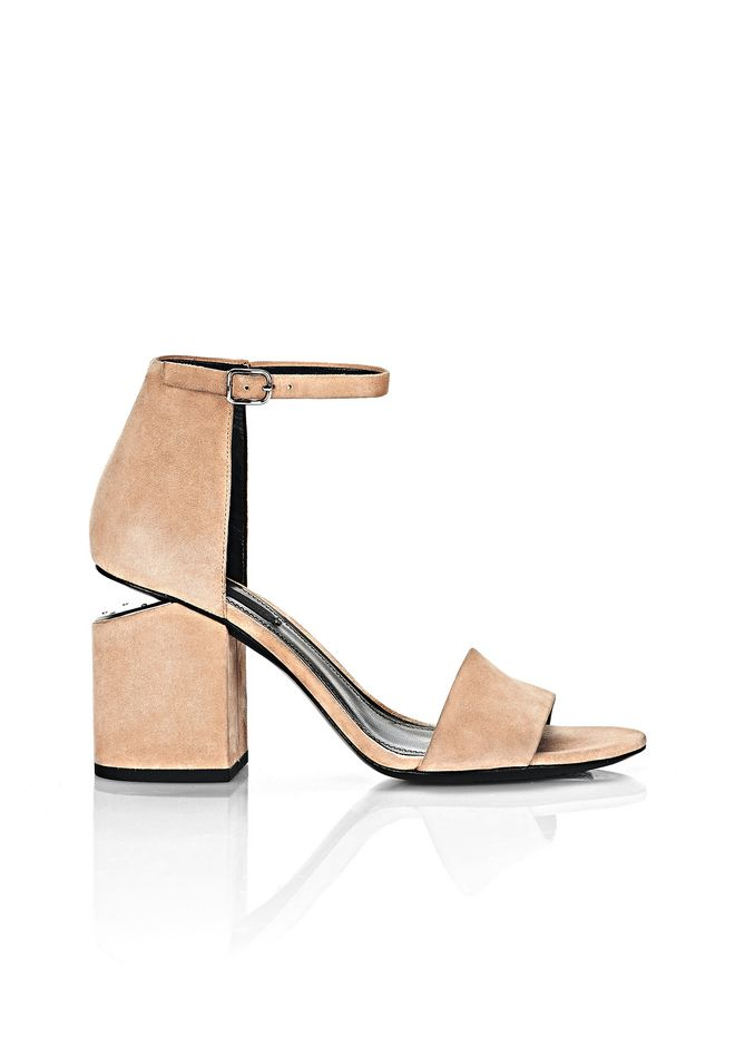 ALEXANDER WANG Heels ABBY SUEDE SANDAL WITH RHODIUM