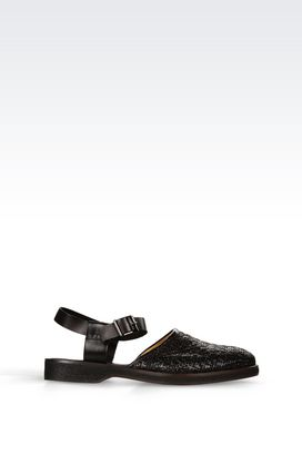 Armani Flat sandals Men runway flat shoe in woven calfskin