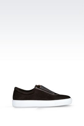 Armani Sneakers Men leather slip-ons
