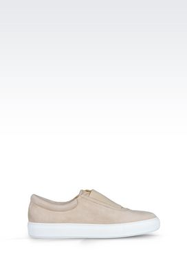 Armani Sneakers Men leather slip-ons