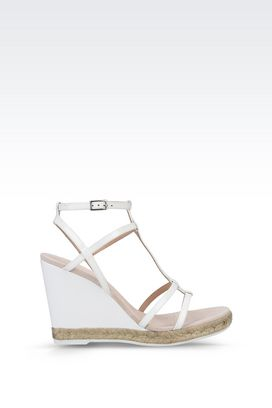 Armani Wedges Women wedge sandal in patent