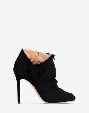 Ankle boots with fringe detail