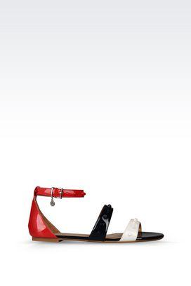 Armani Flat sandals Women flat patent sandal