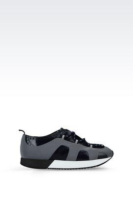 Armani Sneakers Men runway sneaker in leather
