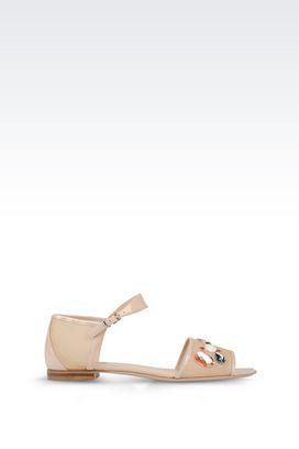 Armani Flat sandals Women patent runway sandal