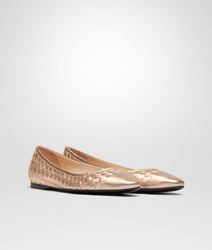 BALLERINA IN ROSE GOLD INTRECCIATO GROS GRAIN