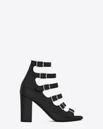 Sandale à lanières multiples BABIES 90 en cuir noir