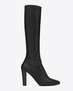 LILY 95 Tall Boot in Black Python Embossed Leather