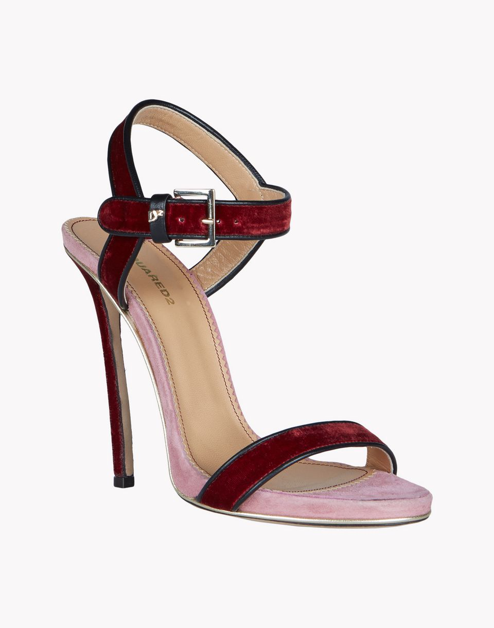 velvet sandals shoes Woman Dsquared2