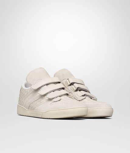 SNEAKER IN MIST SUEDE AND INTRECCIATO CALF