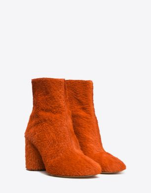 Embossed calfhair ankle boots