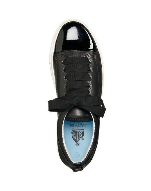 lanvin low black two leather sneaker women