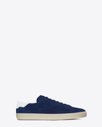 Signature COURT CLASSIC SL/06 Sneaker in Ocean Blue Suede and Off White Leather