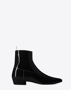 bottine western DEVEN 25 en cuir verni noir