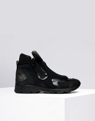 Zip-up high top trainers