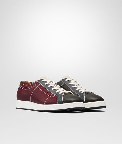 SNEAKER IN VITELLO BAROLO MULTICOLOR INTRECCIATO