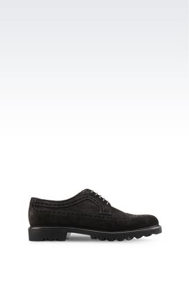 Armani Lace-up shoes Men suede derby