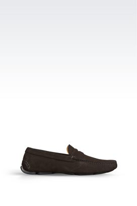 Armani Moccasins Men driving shoe in suede