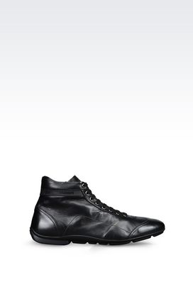 Armani Ankle boots Men high top sneaker in napa