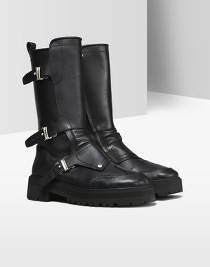 Calfskin motorcycle boots