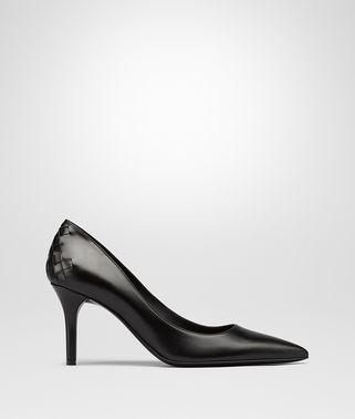 TIPPIE PUMPS IN NERO CALF, INTRECCIATO DETAILS