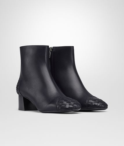 ANKLE BOOT IN DARK NAVY CALFINTRECCIATO