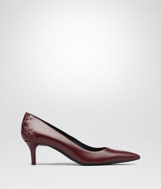TIPPIE PUMPS IN BAROLO CALF, INTRECCIATO DETAILS