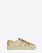 Signature COURT CLASSIC SL/39 Platform Sneaker Pale Gold Washed Metallic Leather