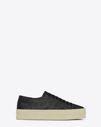Sneaker Signature COURT CLASSIC SL/39 con plateau neri in glitter