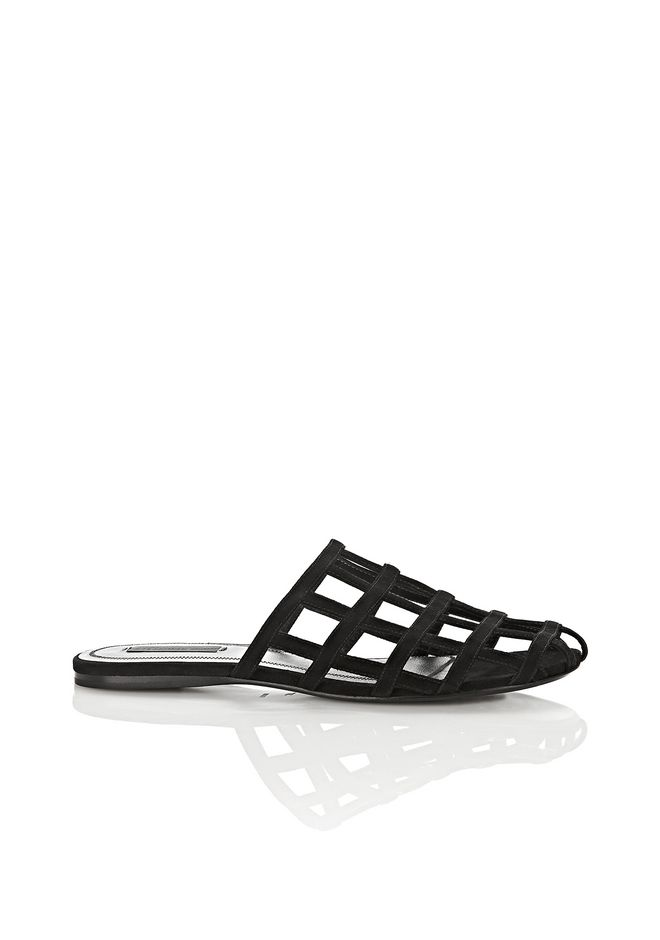ALEXANDER WANG SANDALS ALISON BLACK KID SUEDE