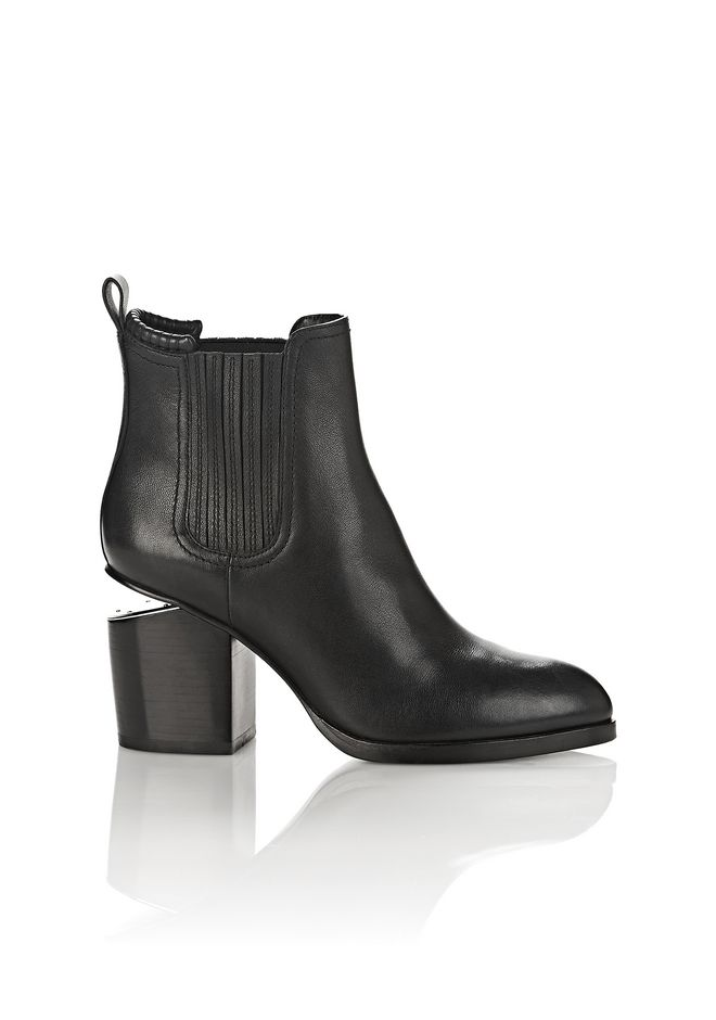 ALEXANDER WANG Boots Women GABRIELLA BOOTIE IN BLACK WITH RHODIUM