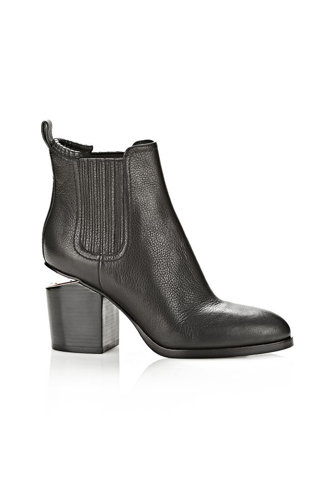 ALEXANDER WANG new-arrivals-shoes-woman GABRIELLA BOOTIE IN BLACK WITH ROSE GOLD