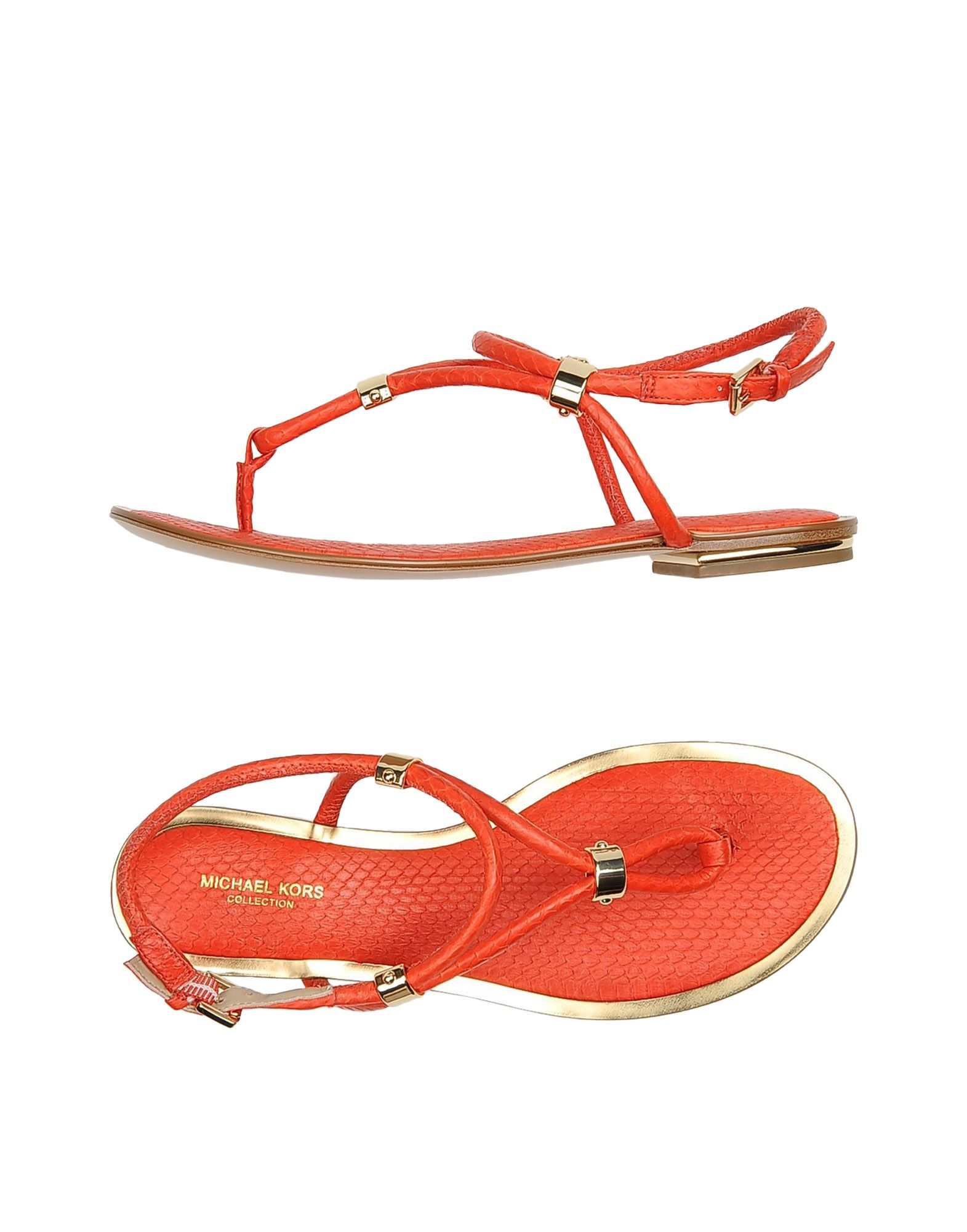michael kors female michael kors toe strap sandals