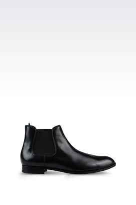 Armani Ankle boots Men demi boot in brushed calfskin
