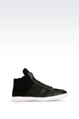 Armani High-top sneakers Men high-top sneaker in calfskin