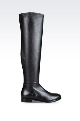 Armani High-heeled boots Women boot in napa leather