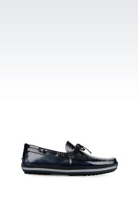 Armani Loafers Men driving shoe in brushed calfskin