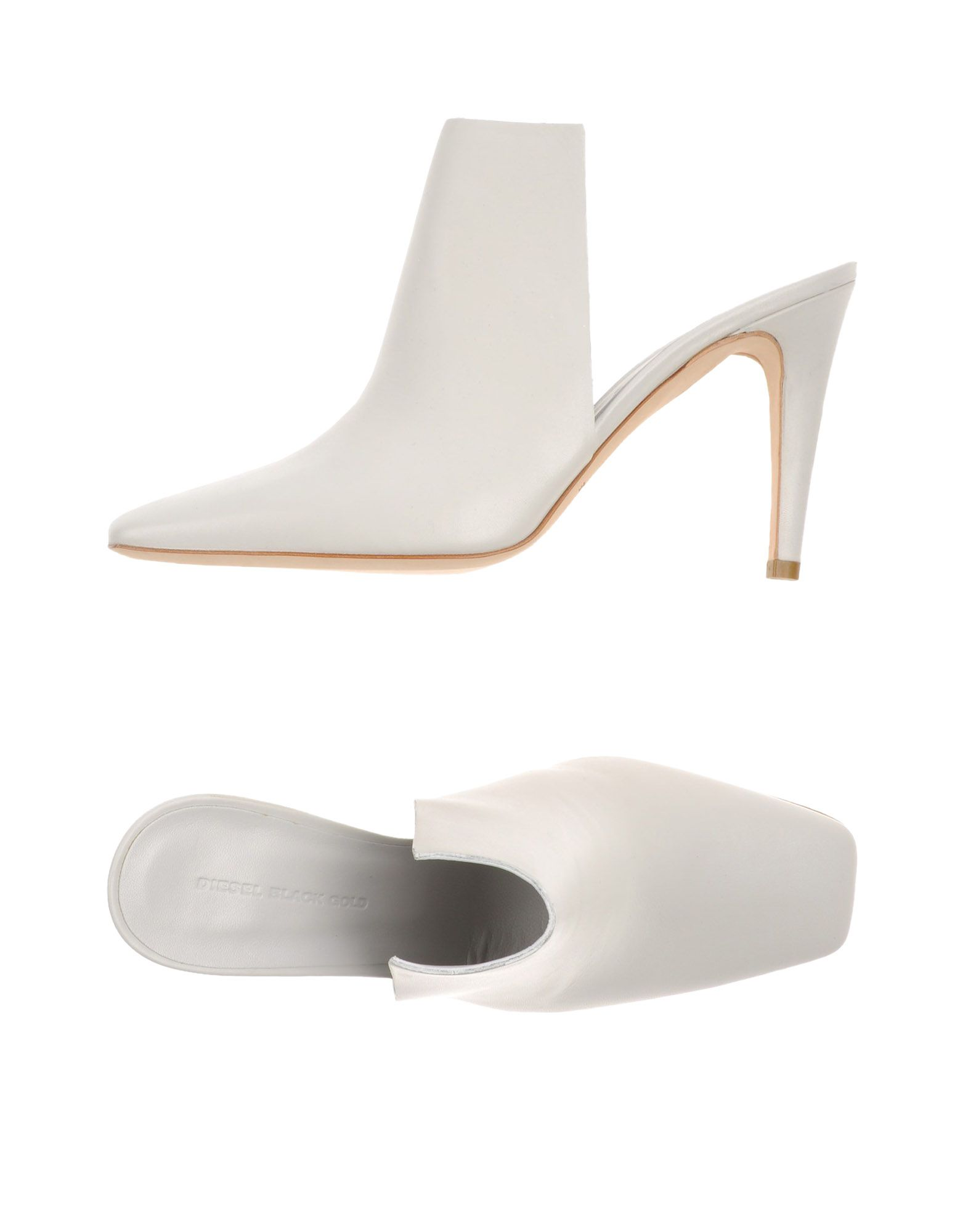 DIESEL BLACK GOLD Damen Mules & Clogs Farbe Weiß Größe 8