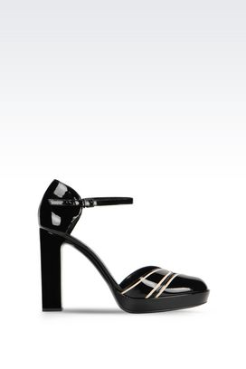 Armani Platform pumps Women patent court shoe