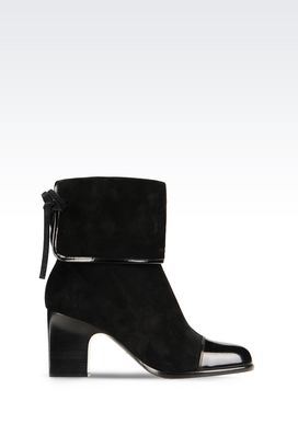 Armani High-heeled boots Women suede ankle boot