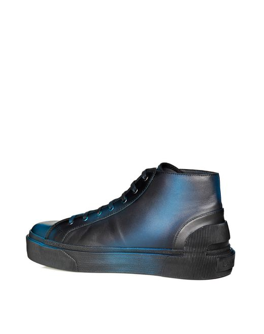 lanvin soft calfskin vulcanized mid-top sneaker men