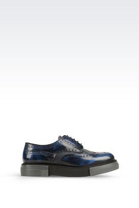Armani Chaussures à lacets Homme derby en veau brossé