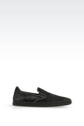 Armani Sneakers Men slip-on in pony skin
