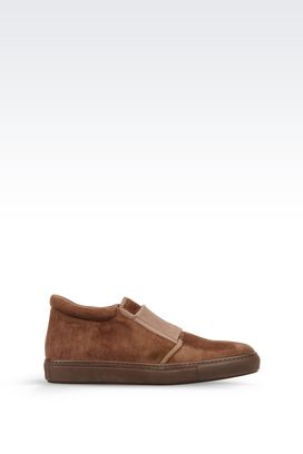 Armani Shoe boots Men suede slip-on
