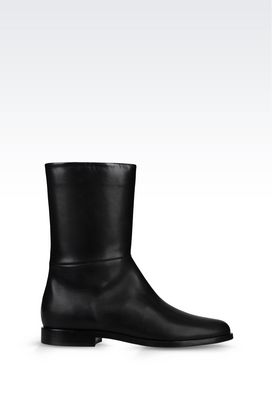 Armani Shoe boots Women heavy-duty boot in calfskin